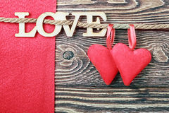 Love letters carved Stock Image