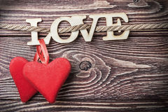 Love letters carved Royalty Free Stock Photography