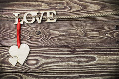 Love letters carved Royalty Free Stock Photo