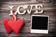 Love letters carved Stock Photos