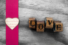 Love letters heart background Royalty Free Stock Images