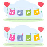 Love letters and hearts Royalty Free Stock Image
