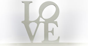LOVE letters isolate on white background Stock Photos