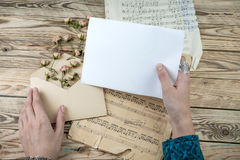 Love letters musician Stock Photo