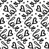Love letters pattern Stock Photography