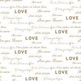 Love letters seamless vector pattern on white. Romantic valentine wrap paper design. Love letters seamless vector pattern on white. Romantic valentine wrap Stock Image