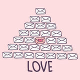 Love letters valentine card Stock Photo