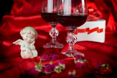 A love life with a cherub. For Valentine's Day Stock Photos