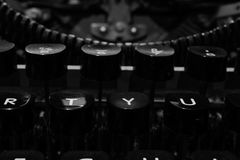 Love is Life. An evening on the typewriter with only the basic thing in life. Love royalty free stock photography