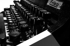 Love is Life. An evening on the typewriter with only the basic thing in life. Love royalty free stock photos
