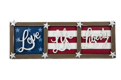 Love, Life, Liberty Stock Image