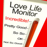 Love Life Meter Incredible. Showing Great Relationships Stock Photos