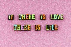 Love life patient kind trust letterpress. Love life patient kind trust typography letterpress truth honesty faith hope joy happy affection enjoyment relationship stock photos
