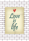 Love is life. Stock Image