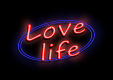 Love life sign. Royalty Free Stock Images
