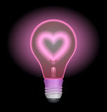 Love light bulb Royalty Free Stock Photography