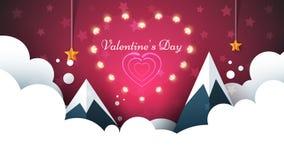 Love light illustration. Valentine s Day. Cloud, star, sky, mountain. Love light illustration. Valentine s Day. Cloud, star, sky mountain Vector eps 10 royalty free illustration