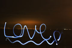 Love light painting Stock Photos