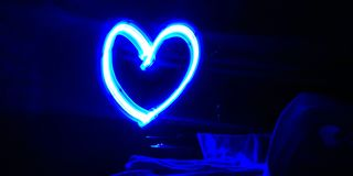 Love - light painting royalty free stock photo