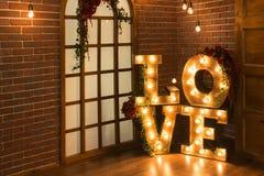 Love Light Sign Love Stock Photos