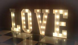 Love lights stock photography