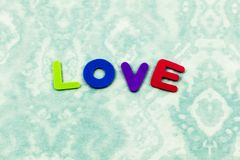 Love like spelling words family children letters. School learning plastic preschool education spell foam small toddler emotion expression royalty free stock photography