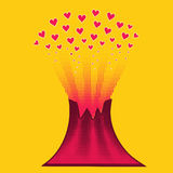 Love like volcano Royalty Free Stock Photography