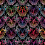 Love line colorful seamless pattern Royalty Free Stock Photos