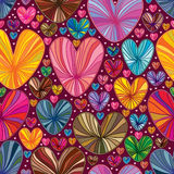 Love line drawing colorful seamless pattern Stock Image