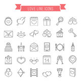 Love Line Icons Royalty Free Stock Photography
