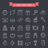 Love Line Icons Royalty Free Stock Image