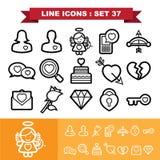 Love line icons set 37 Stock Image