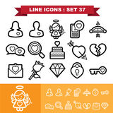 Love line icons set 37 Stock Image