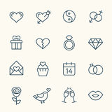 Love line icons Royalty Free Stock Photos