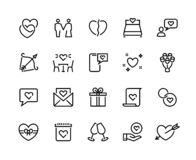 Love line icons. Volunteer charity friendship and solidarity outline pictograms, charity handshake and respect vector