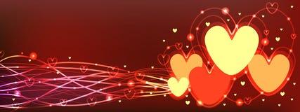 Love line light banner Stock Photography