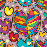 Love line seamless pattern Stock Images
