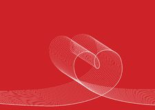 Love lines white on red Royalty Free Stock Photos