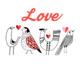 Love little  birds Stock Photography