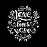 Love lives here Stock Photos