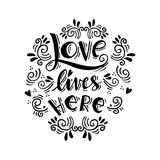 Love lives here Royalty Free Stock Photo
