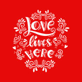 Love lives here Royalty Free Stock Photography