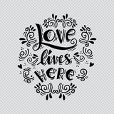 Love lives here Royalty Free Stock Images