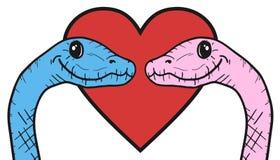 Love lizard Stock Photography