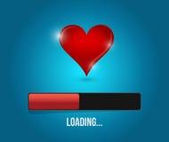Love loading bar illustration design Royalty Free Stock Photo