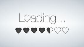 Love is Loading with Loading bar, valentine s day is coming vector illustration