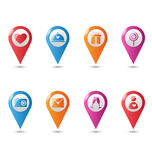 Love location pin mapping marks icons for saint valentine`s day Royalty Free Stock Image