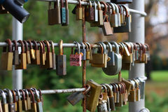 The love lock. royalty free stock photo