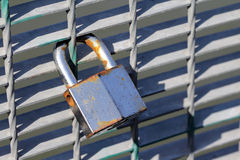 Love lock (add your initials). Love lock, blank padlock, you can add initials like the couple Stock Photography