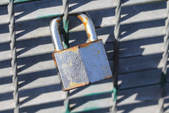 Love lock (add your initials). Love lock, blank padlock, you can add initials like the couple Stock Image